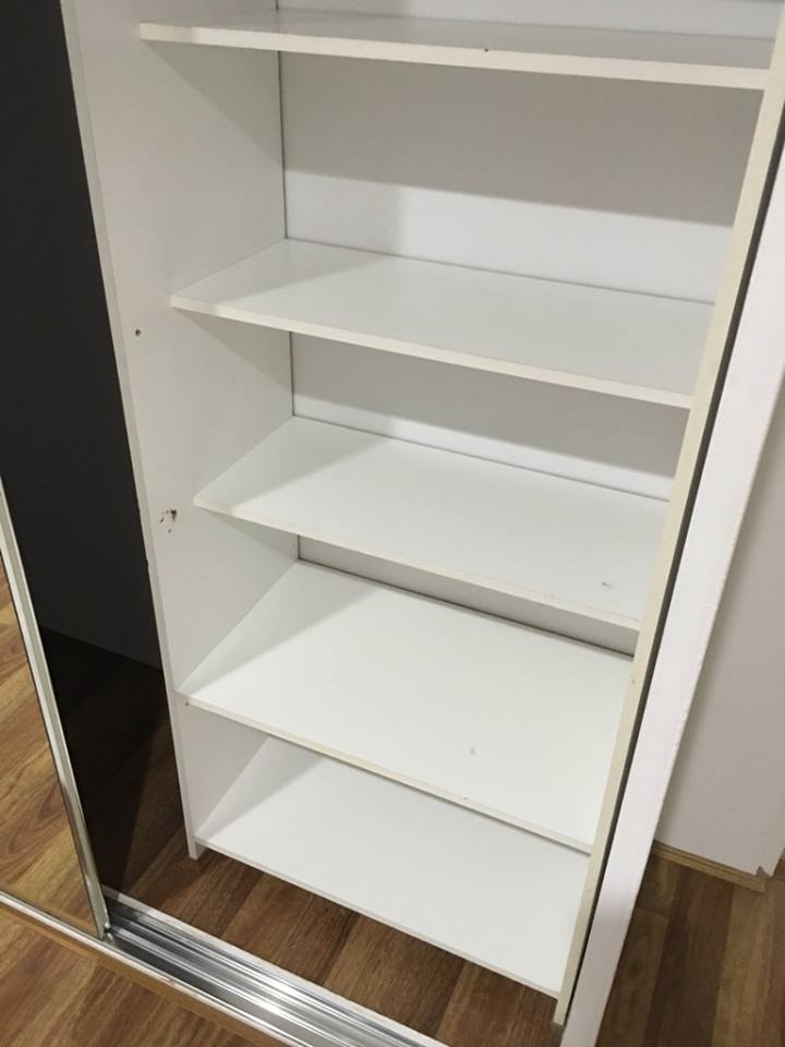 Inside cupboards are cleaned to a high standard